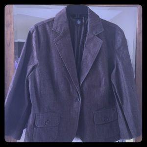 New Directions, brown denim, blazer.
